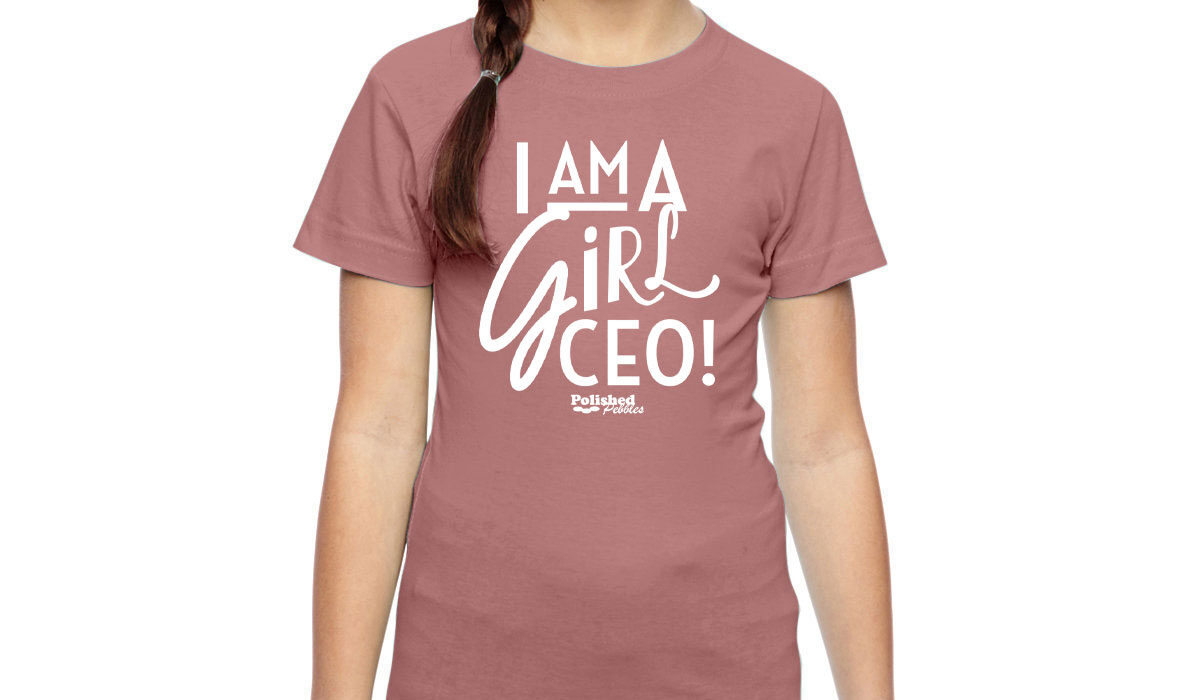 Girl in I am a CEO Tee